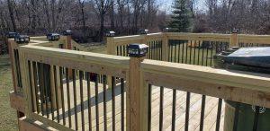 lighted deck in central arkansas deck company decking builder contractor conway jacksonville lonoke searcy beebe arkansas