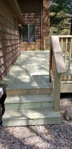 wood porch construction wraparound decking jacksonville lonoke cabot arkansas