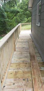 new wooden porch built in arkansas deck builder porch construction