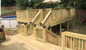 backyard decking pool deck decks deck builder arkansas vilonia jacksonville beebe searcy cabot ar deck builders
