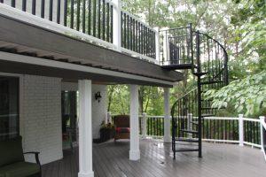 multi-level deck beautiful pvc deck vinyl deck composite decking high end deck cabot searcy jacksonville vilonia conway luxury decking